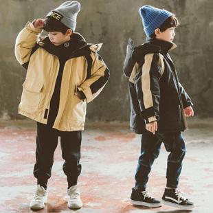 男童棉服冬装2018洋气中大童装儿童羽绒棉衣男孩加厚棉袄外套
