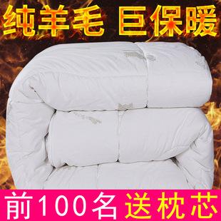 10斤加厚纯羊毛被100澳洲羊毛被子保暖冬被单人棉被双人春秋被芯