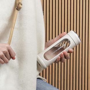 特美刻创意玻璃杯男女士耐热防摔便携水杯子带盖随手杯定制泡茶杯