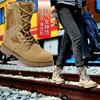 工装靴短靴军靴男女秋冬高帮英伦真皮靴子平底特种兵作战靴子女鞋