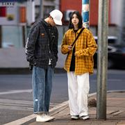 净化眼球自制潮牌宽松男女款格子衬衫休闲流行春季衬衣外套