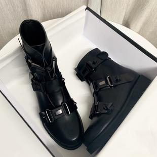 炸街马丁靴2021年女平底情侣英伦风靴子春秋单靴瘦瘦小短靴夏