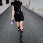 中国风改良旗袍连衣裙复古修身甜美可爱高腰短袖盘扣短裙女学生潮