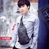 胸包男斜挎包单肩包男士包包皮时尚运动小背包潮流胸前包