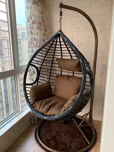 吊椅单双人吊篮藤椅卧室吊床网红秋千阳台粗藤摇篮椅家用欧式吊兰
