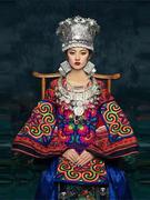 我是朱丽叶原创梦回清迈泰式苗族绣花拼接套头上衣民族风撞色女装