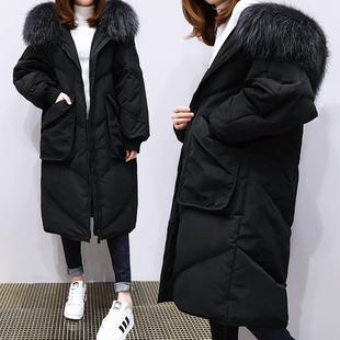 特大码女装棉服中长款2018冬装加厚棉衣胖妹妹过膝230斤棉袄