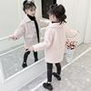 女童仿水貂绒外套秋冬装2018洋气小女孩冬季儿童夹棉公主大衣