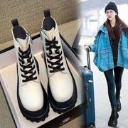 显脚小马丁靴女英伦风2020韩版百搭厚底网红瘦瘦靴子机车短靴
