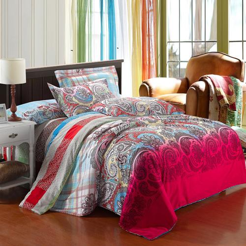 冰贝家纺 HXL103 全棉磨毛活性四件套 床上用品婚庆床品