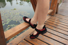 Qiao Jia fastening sandals Cow leather with low surface for dance sandals Modern dance shoes Jazz shoes fitness