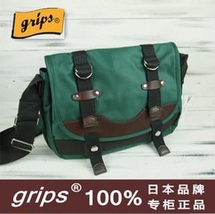 日本GRIPS 保真男士女士斜挎包商务单肩包防水帆布牛津学院风