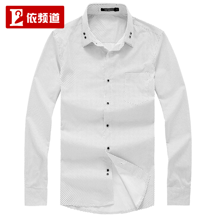 Рубашка мужская By channel 1150304010 Ткань с рисунком, имитирующим брызги Двухслойный воротник Длинные рукава ( рукава > 57см )