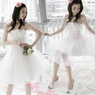 Send put yarn Princess sweet Korean Korean small dress Bridesmaid Dresses Wedding Delta short maid clothes X5803