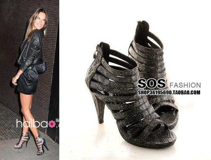 女鞋防水台凉鞋2010款 H&M 海报款 时尚焦点