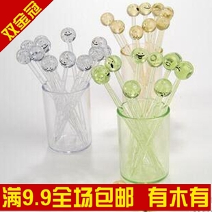 [Golden delicious Shanghai 9.9 email] cute  expression 365 fruit fork/fork/transparent fruit fruit notes