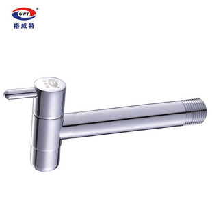 GWEAT long single cold water faucet faucet single cold tap and extra long handles full-brass water tap