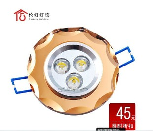 Lamp LED spot light ceiling lamp tube light Crown quality aviation aluminum super light 3*1W a full set only $ 43