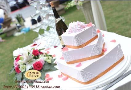 预订婚礼/结婚蛋糕速递/多层鲜奶水果蛋糕NO.1.2仅限上海市送