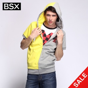 Giordano BSX snap up limited edition summer jacket men's embroidered CONTRAST COLOR zip-up even hats and guard clothing 04072200