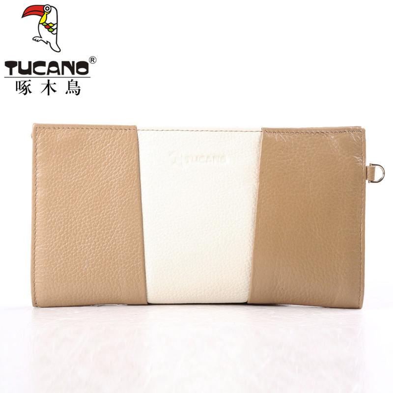 欢迎咨询 5折促销Tucano/啄木鸟专柜正品 女士牛皮横款拉链钱包