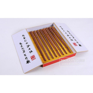 BIGLONG men's red paint-free and environment-friendly rosewood chopsticks from year 8 double luxury gift box number 2,636