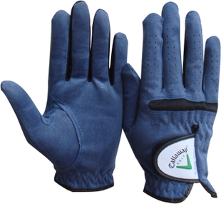 Premium golf glove specials  men's ultra-fiber cloth dark blue