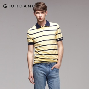 Hot recommend Giordano men's  in summer hit-free skinny bead POLO01011008