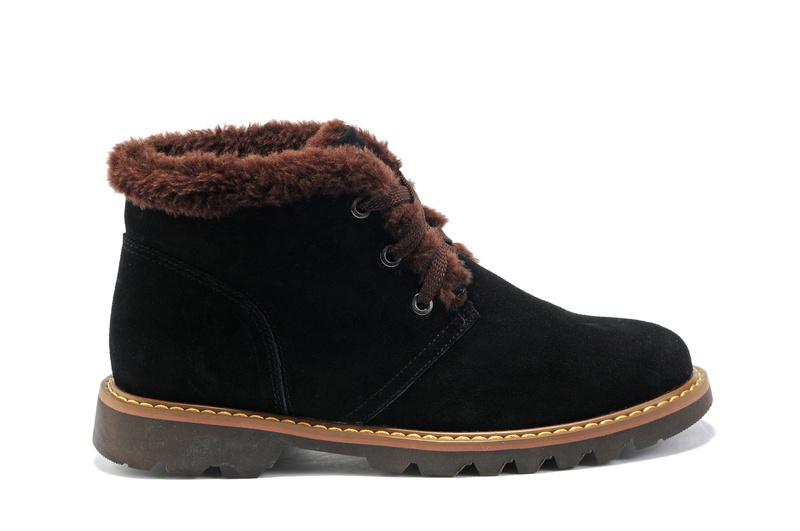 Ботинки мужские Gibson 5066 Для отдыха Круглый носок Кожа Замша Зима