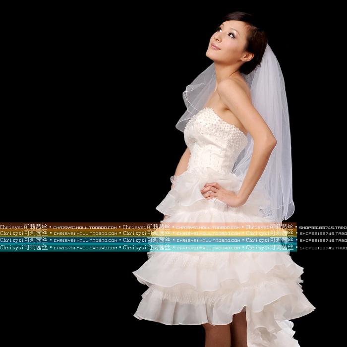 Свадебное платье Honey Clouds H127/2 100 Органза Впереди короткое со шлейфом сзади