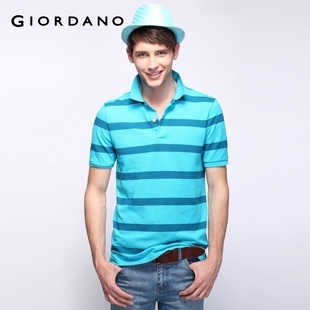 2012 new Giordano cross  men's colorful personality in  summer skinny POLO01012014