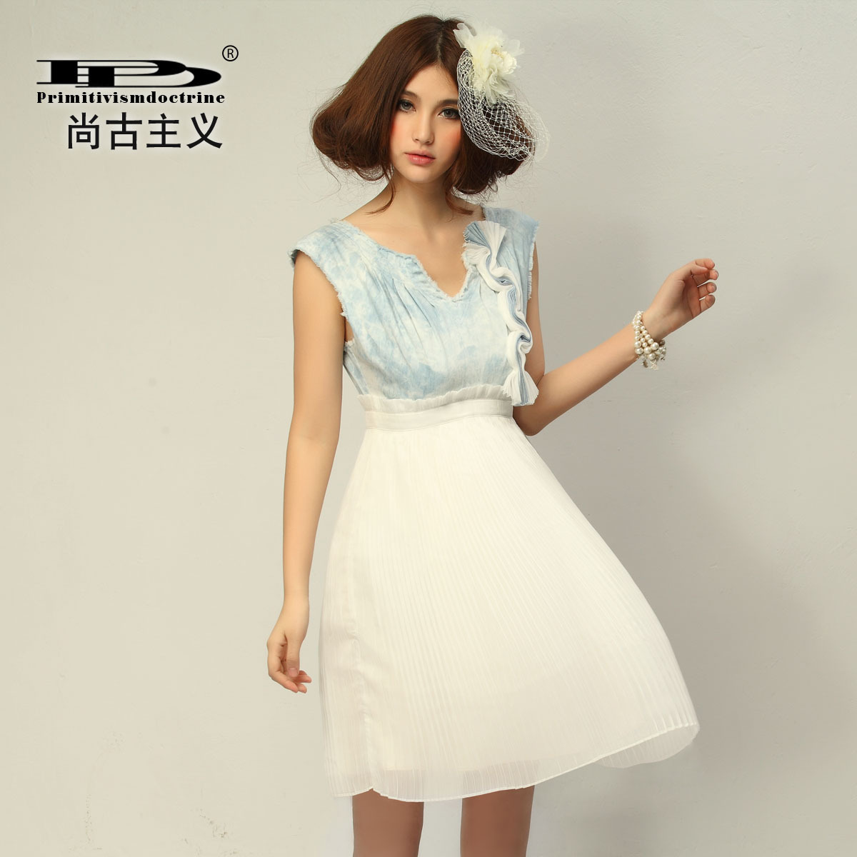 Женское платье Drinitioisn l80106 2012 Джинс