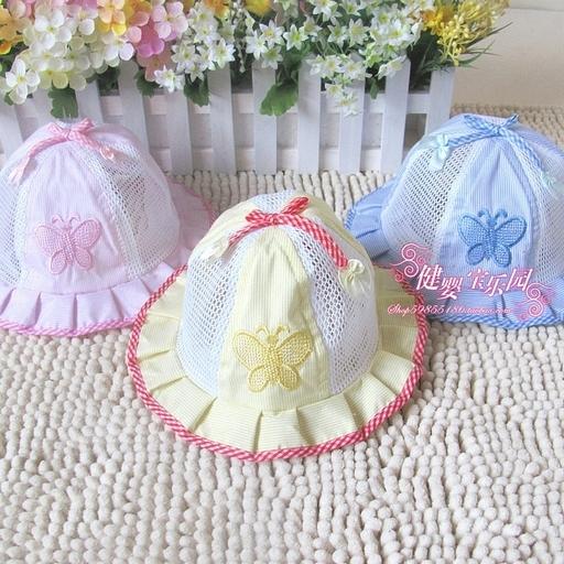 Головной убор Летом ведро шапка шапочка ребенка/бабочка сеток глаз солнце шляпа