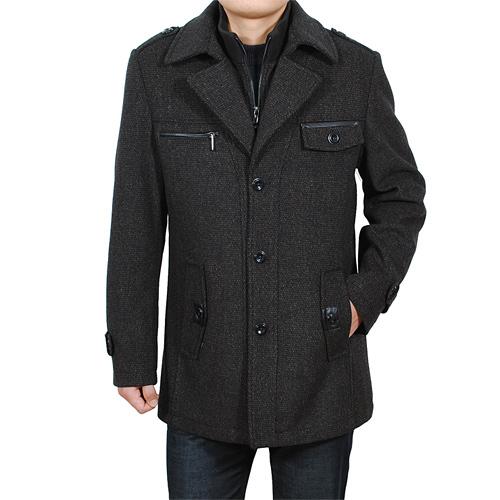 Пальто мужское Baromon 10378 2012 Шерстяная ткань для пальто Двухслойный воротник