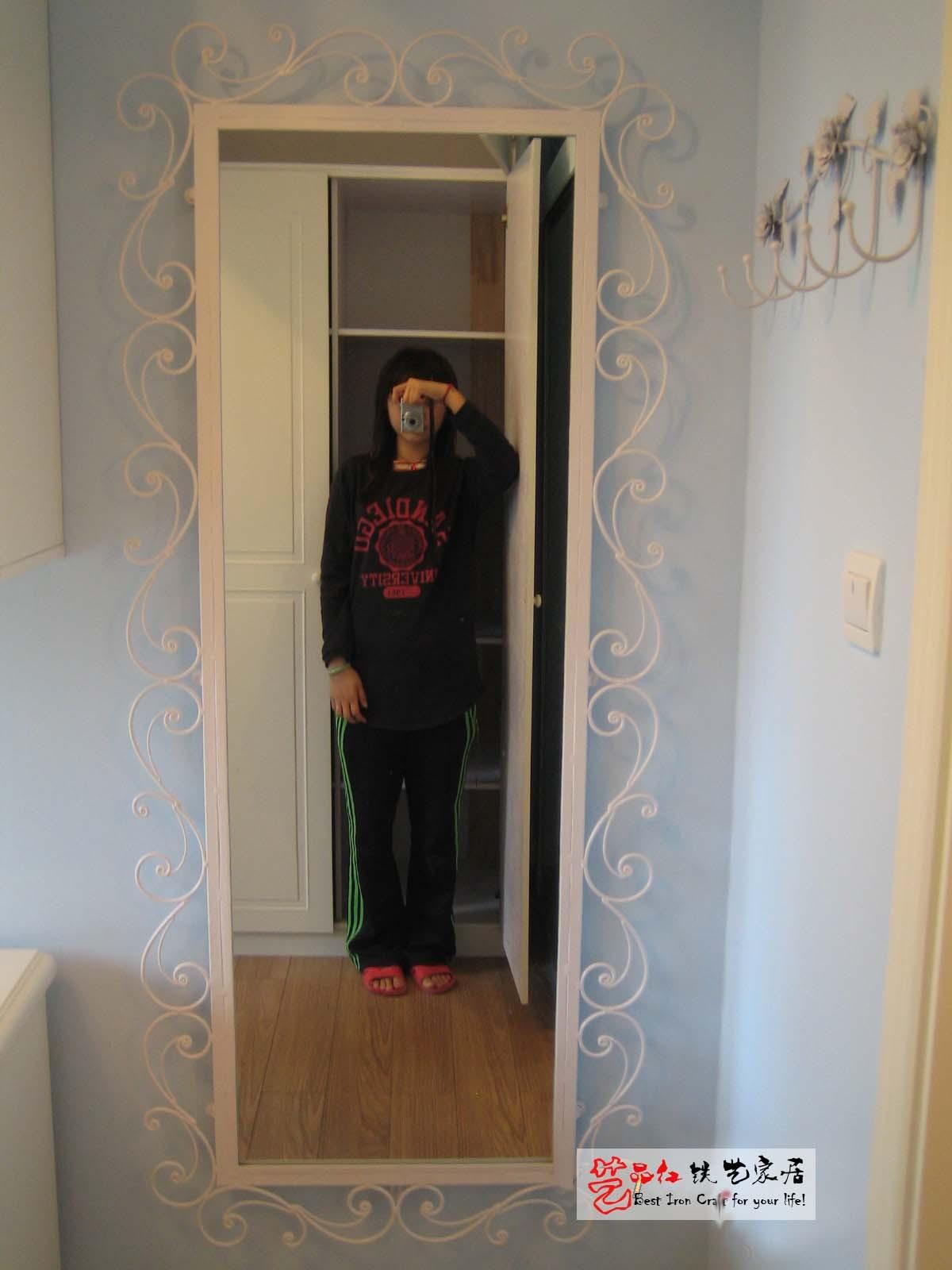 艺品红◆ 欧式铁艺镜 镜框 全身镜 穿衣镜 壁挂镜 铁艺 试衣镜