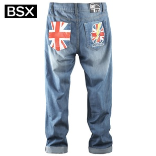 Giordano in summer 2012 new BSX Pant men's MINI CHE m waves of words printed cylindrical bovine 04112003