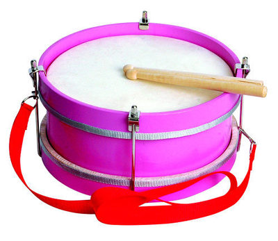 Pink marching drums percussion preschool toys Orff instruments