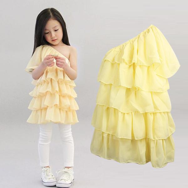 детское платье Other юбка с ярусами лето 100 хлопок однотонный цвет % для леди
