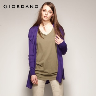 Hot summer Giordano recommended anti-UV shirt ladies ' knitted rayon COPINE 01351003