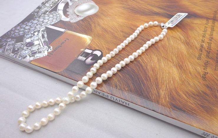 海钰珍珠珍珠项链圆2013天然珍珠 海水珍珠正品 珠宝 南珠