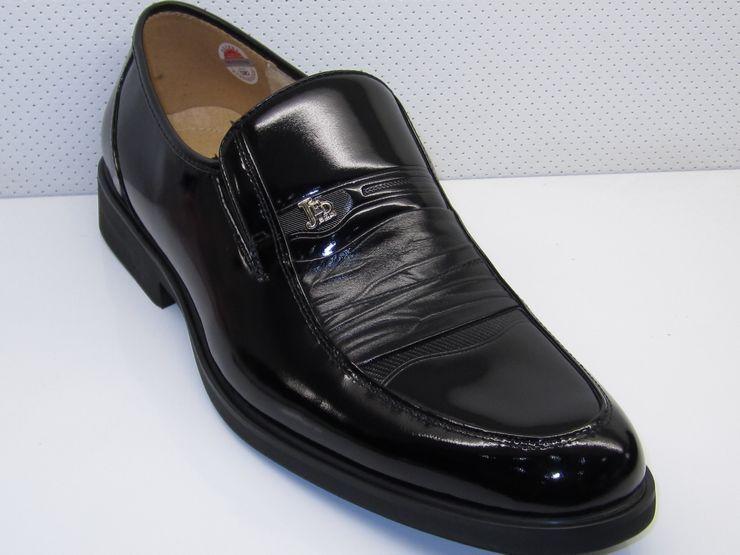 Демисезонные ботинки Jierda 11871 Официальные Верхний слой из натуральной кожи Круглый носок Без шнуровки Весна и осень