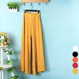 New women in spring and summer wind candy color high waist wide leg pants in Europe and ethereal chiffon MaxMara culotte
