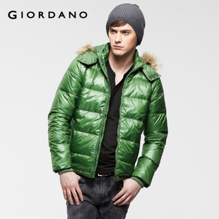 2012 Giordano jacket men's high quality detachable Cap Teflon down jacket 01071592
