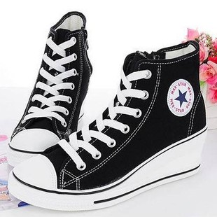 Korea purchasing genuine 2012 women's shoes new style of Korean casual shoes sneakers high help shoes canvas shoes