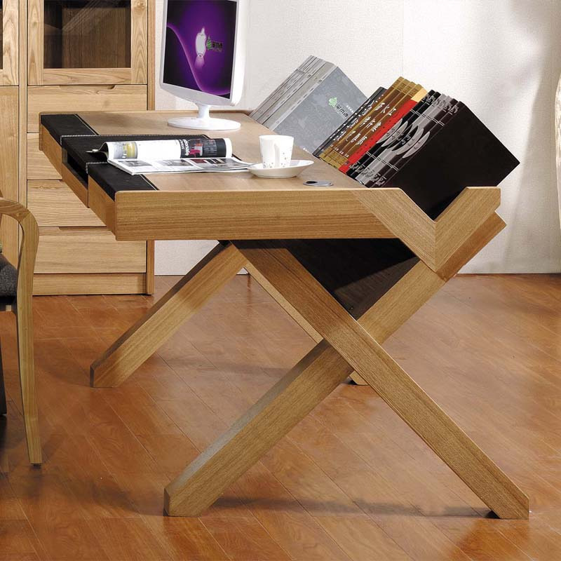 Simple Wood puter Desk & Becuo