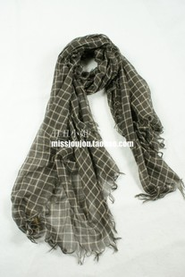 Ugly ugly 2012 women's fashion accessories trade temperament shawl of soft cotton Plaid long scarf in Europe and both women spring summer