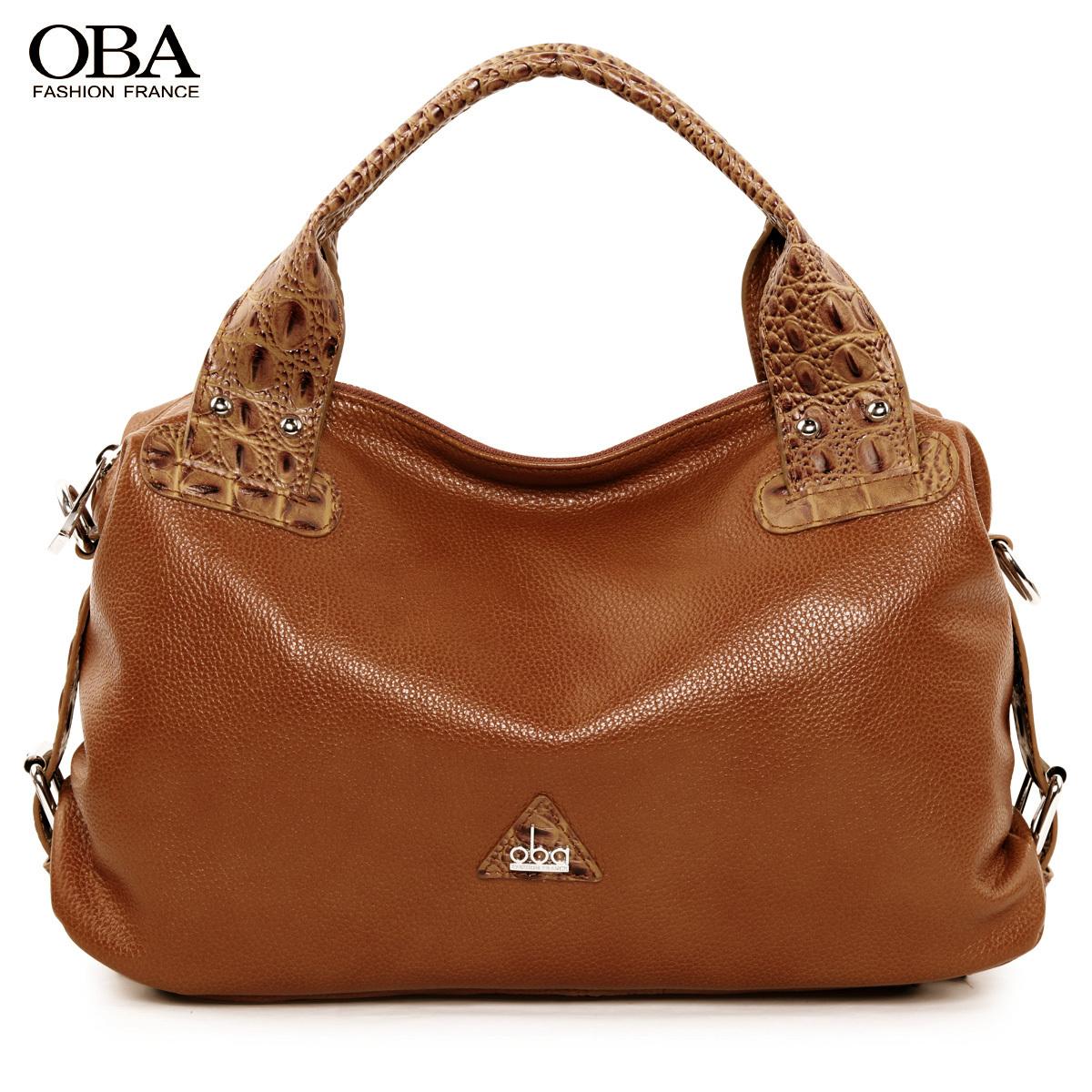 Сумка Oba 2155 OBA2012 Девушки Женская сумка Однотонный цвет Кожа быка