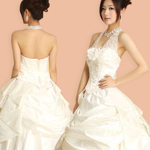 Philippine Wedding dresses of bride Korean hanging neck 2012 new Korean Princess Qi sweet wedding dress wy00051