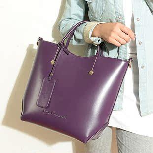 韩国2014秋冬纯牛皮包包复古手提包时尚女士真皮包 高端女包