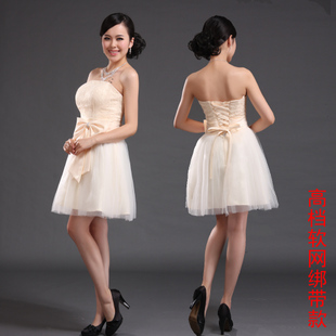 Very ling Ko 2012 latest lace strap bridesmaid dresses brides wedding small dress special price LF071